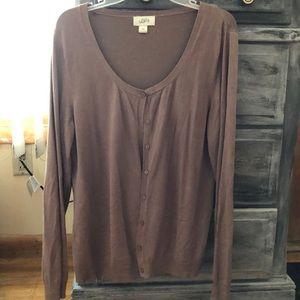 Brown cardigan, xxl, Ann Taylor